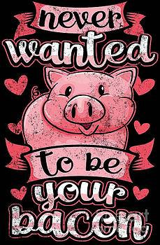 Vegan Vegetarian T Never Wanted To Be Your Bacon by Festivalshirt