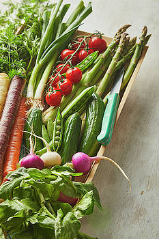 Vegetables in a tray by Cuisine at Home
