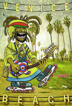 Venice Beach Rasta Roller by Ebenlo - Painter Of Song