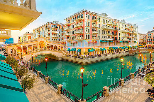 Venice bridges Doha twilight by Benny Marty