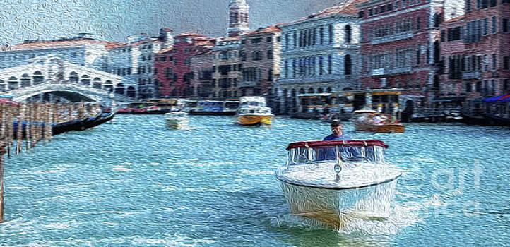 Venice Canale Grande and Rialto Bridge #2 by Lutz Roland Lehn