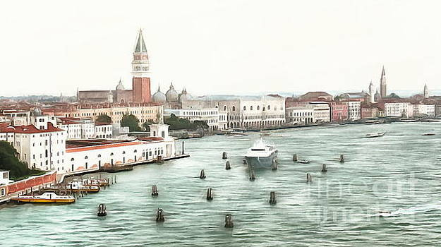 Venice from the water by Yury Bashkin