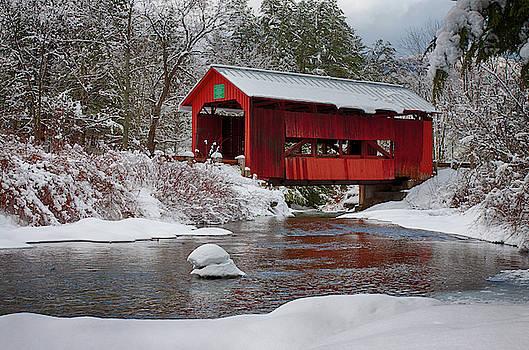 Vermont covered bridge by Jeff Folger