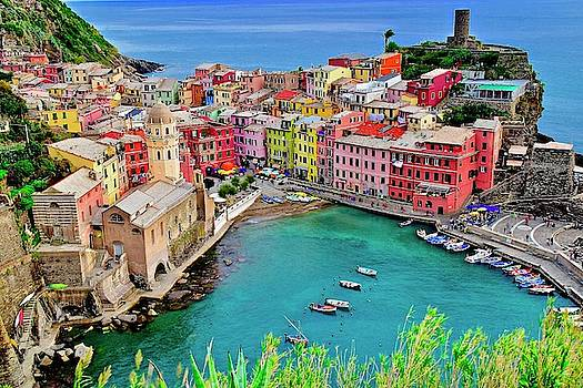 Frozen in Time Fine Art Photography - Vernazza Alight