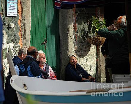 Wayne Moran - Vernazza Cinque Terre Chatting with the Locals