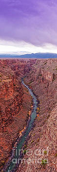 Vertical Panorama of Rio Grande Gorge Picuris Peak and Sangre de Cristo - Taos County New Mexico  by Silvio Ligutti