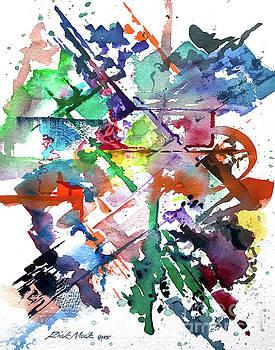 Vibrant Abstract Brushstrokes by Rick Mock