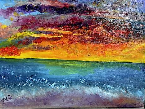 Vibrant Sunset by Susan Grunin
