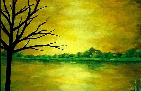 Vibrant Yellow Sky  by Danett Britt