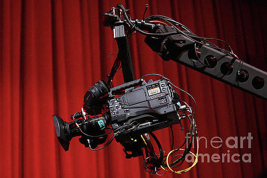 Video Camera on a Boom Arm by Concert Photos