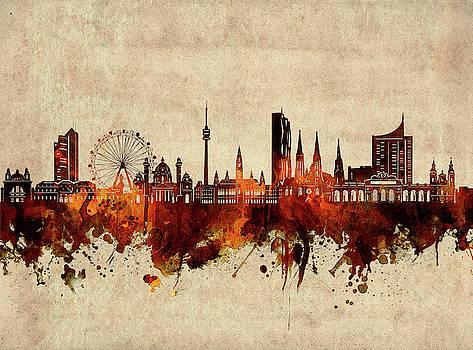 Vienna Skyline Sepia by Bekim Art