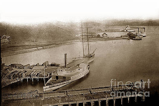 California Views Archives Mr Pat Hathaway Archives - View at South Vallejo steam boat landing with Side wheeler Sacra