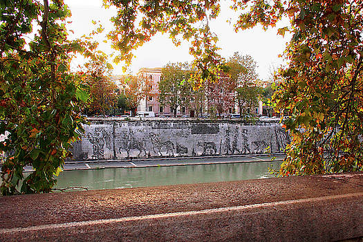 View From Across the Tiber to Triumphs and Laments Commissioned Mural by Angela Rath