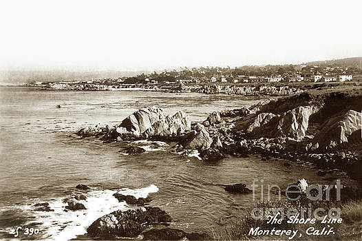 California Views Archives Mr Pat Hathaway Archives - View looking towards Lovers Point from Otter Point Pacific Grove