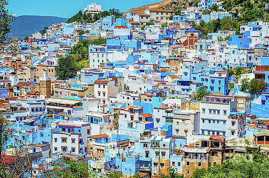 View of Chefchaouen by Louise Poggianti