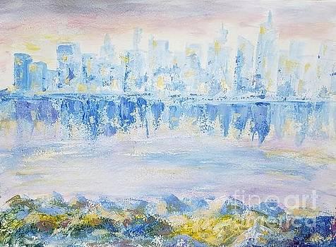 View of Manhattan by Olga Malamud-Pavlovich