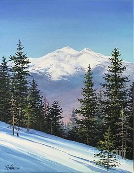 View of Mt. Adams from Mt. Surprise by Varvara Harmon
