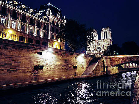 View of Notre Dame From the Sienne River in Paris, France by PorqueNo Studios