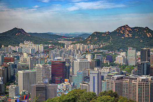 View of Seoul from Namsan Park by Rick Berk