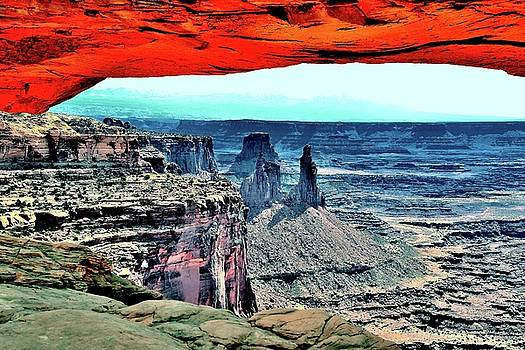 View of the canyonlands by Gerald Blaine