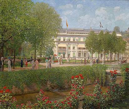 View of the Hotel and Spa in Baden by Otto Albert Koch