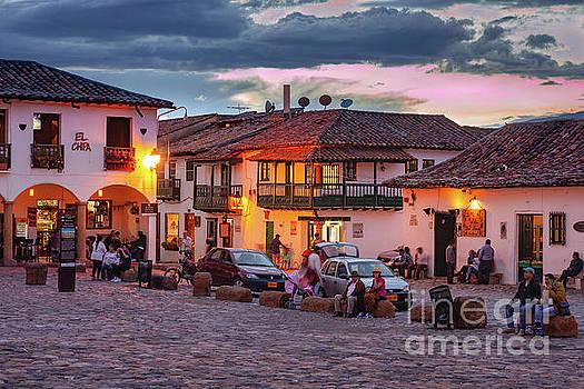 Villa de Leyva, Colombia - Plaza Mayor at Sunset by Devasahayam Chandra Dhas
