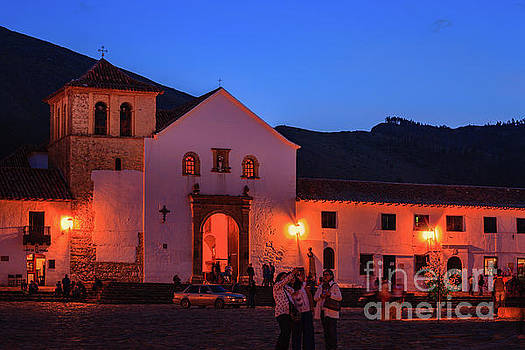 Villa de Leyva, Colombia, South America - Historic Church On Plaza Mayor by Devasahayam Chandra Dhas