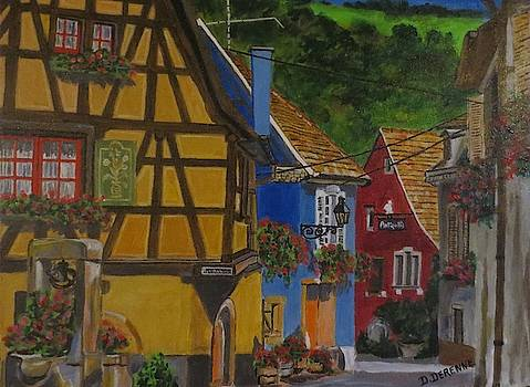 Village in Alsace France by Dominique Derenne