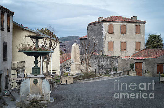 Village Square, South France by Perry Rodriguez