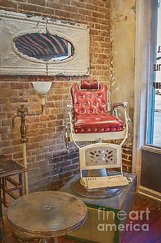Vintage Barber Chair by Warrena J Barnerd