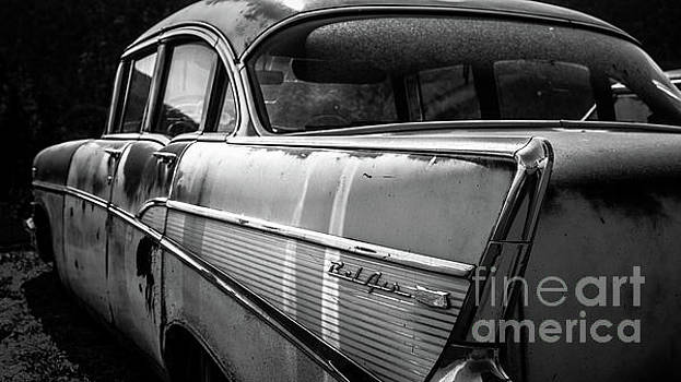 Vintage Chevy Bel Air Black and White by Edward Fielding