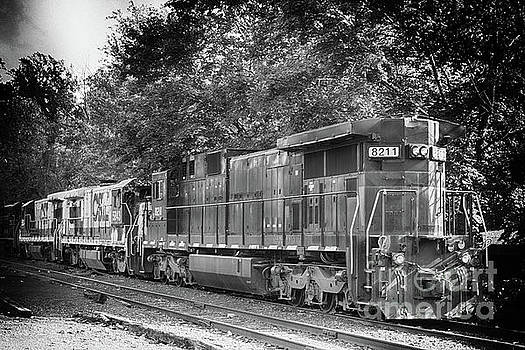 Vintage Diesel  Locomotive 8211 by Tom Gari Gallery-Three-Photography