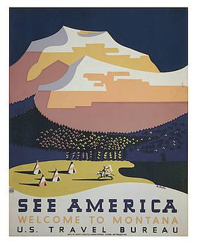 Vintage Montana Travel Poster 2 by Ricky Barnard