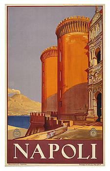 Vintage Napoli Travel Poster by Ricky Barnard