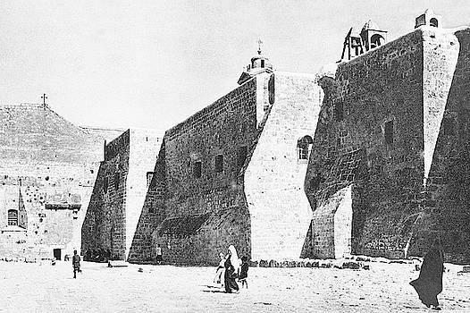 Vintage Nativity Church in 1933  by Munir Alawi