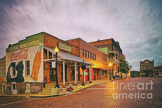 Vintage Photograph of General Mercantile and Oldtime Spring Shop in Downtown Nacogdoches - Texas  by Silvio Ligutti