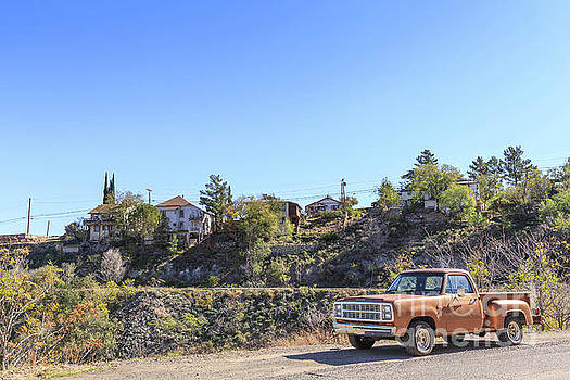 Vintage Pickup Truck Jerome Arizona by Edward Fielding