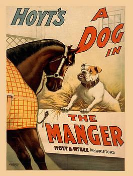 Vintage poster - A Dog in the Manger by Vintage Images