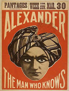 Vintage poster - Alexander, The Man Who Knows by Vintage Images