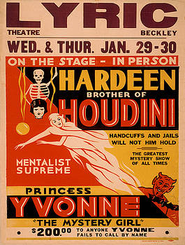Vintage poster - Hardeenm Brother of Houdini by Vintage Images