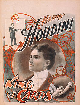 Vintage poster - Harry Houdini, King of Cards by Vintage Images