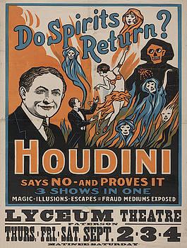Vintage poster - Houdini - Do Spirits Return? by Vintage Images