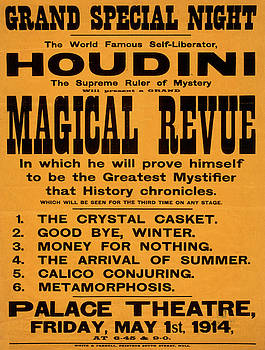 Vintage poster - Houdini Magical Revue by Vintage Images