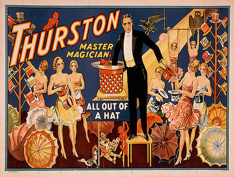 Vintage poster - Magician Advertisement by Vintage Images
