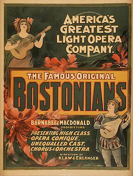 Vintage poster - The Famous Original Bostonians by Vintage Images