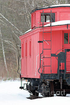 Edward Fielding - Vintage Red Caboose Potters Place Andover NH