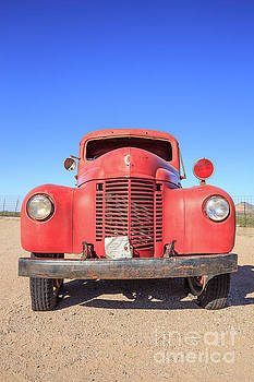 Edward Fielding - Vintage Red Truck in the Desert
