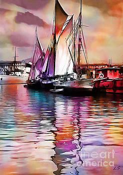 Vintage Sailboat by Sergey Lukashin