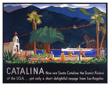 Vintage Santa Catalina California Travel Poster by Ricky Barnard