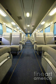 Edward Fielding - Vintage Santa Fe Passenger Train Car Interior